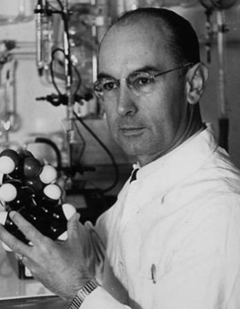Photograph of Swiss chemist Albert Hofmann.