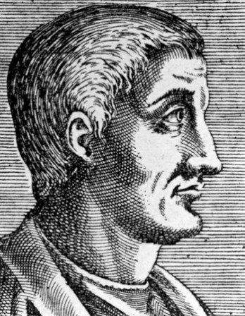 Engraving of Roman poet Horace.