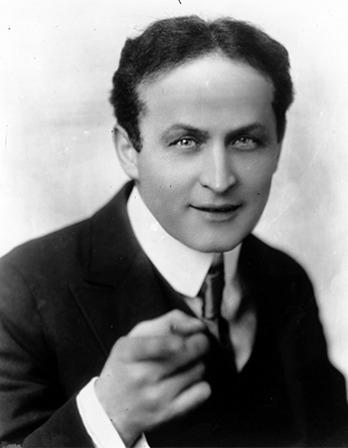American magician Harry Houdini.