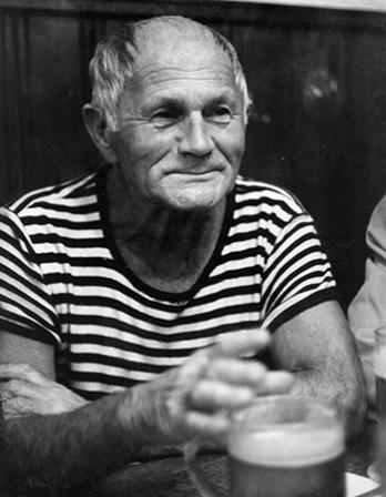 Czech writer Bohumil Hrabal.