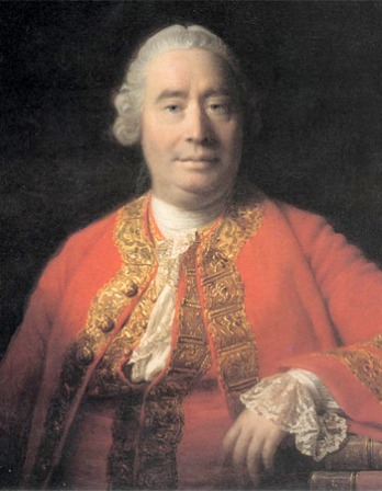 Painted portrait of Scottish philosopher David Hume.