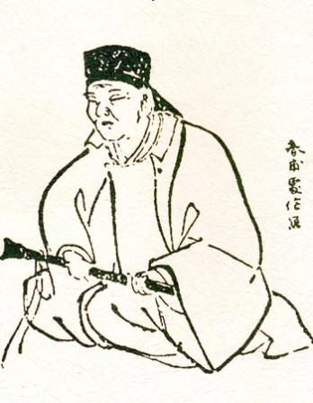 Black and white image of Japanese haiku poet Kobayashi Issa.