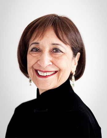 Indian actress and food writer Madhur Jaffrey.