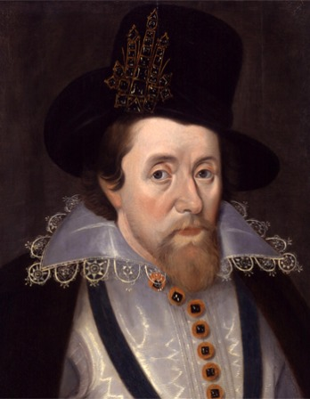 Portrait of King James I.