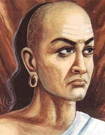 Artist rendering of Hindu statesman and philosopher Kautilya.