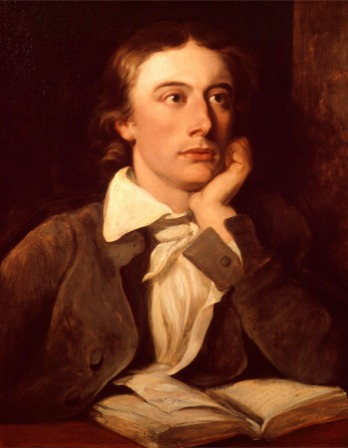 Portrait of English poet John Keats.