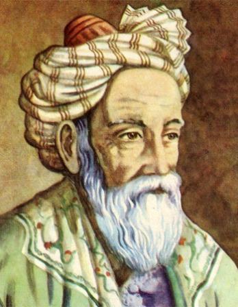 Depiction of Persian mathematician and poet Omar Khayyam.