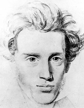 Drawing of Danish philosopher Søren Kierkegaard.