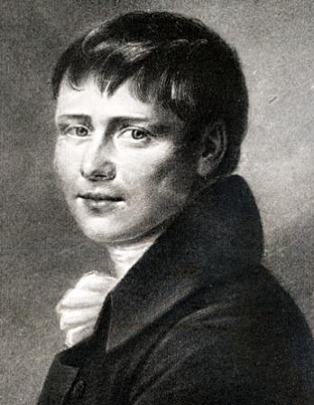 Black and white image of German dramatist Heinrich von Kleist.