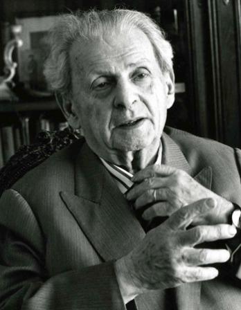 Photograph of Lithuanian-born French philosopher Emmanuel Lévinas.