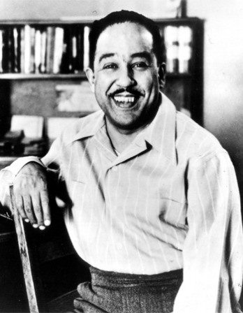 Photograph of African-American poet and writer Langston Hughes.
