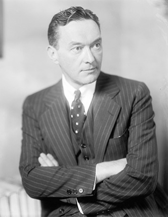 American newspaper commentator and author Walter Lippmann.