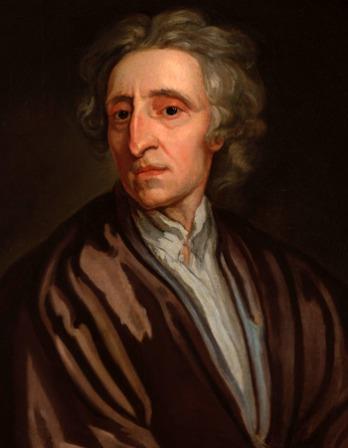Color portrait of English philosopher John Locke.