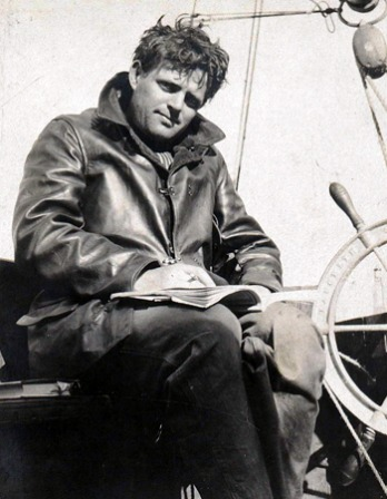 Photograph of American novelist Jack London.