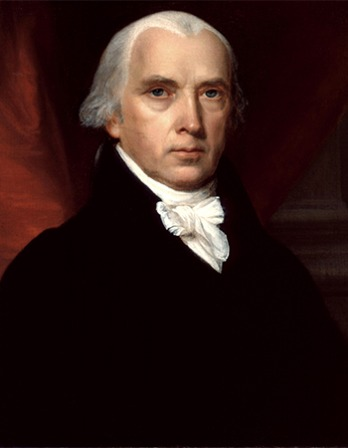 Fourth President of the United States James Madison.
