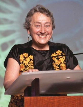 Photograph of American biologist Lynn Margulis.
