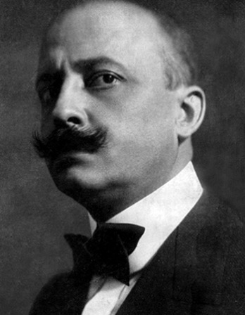 Italian-French author Filippo Tommaso Marinetti.