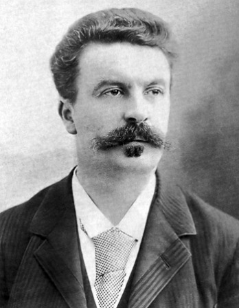Photograph of French writer Guy de Maupassant.