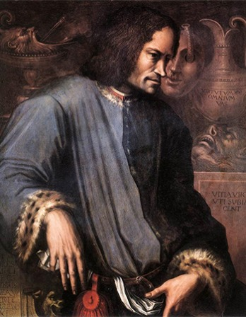 Florentine ruler and patron Lorenzo de Medici.