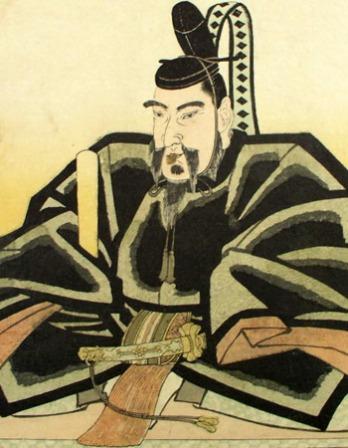 Portrait of Japanese political figure and scholar Sugawara no Michizane.