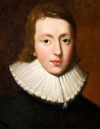 Painted portrait of English poet John Milton.