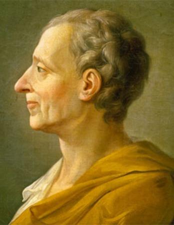 Portrait of French political philosopher Montesquieu.