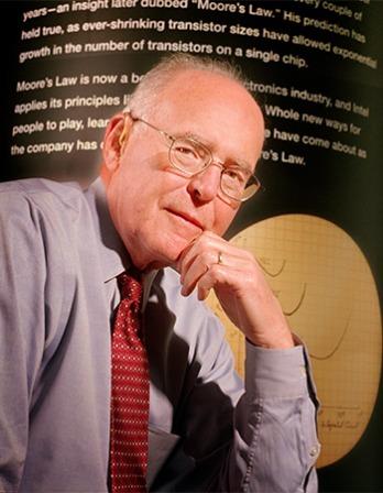 American engineer Gordon E. Moore.