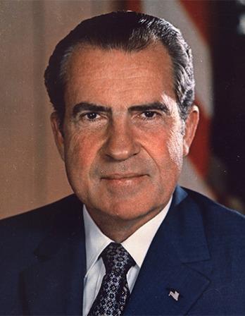 Former President of the United States Richard Nixon.