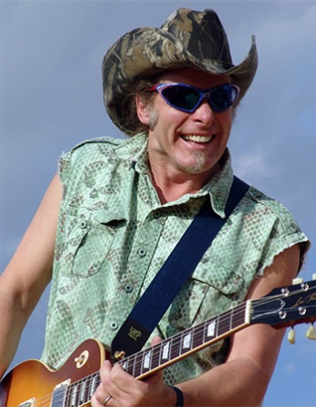 American rock musician Ted Nugent.