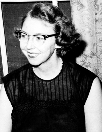 Photograph of American novelist and writer Flannery O'Connor.