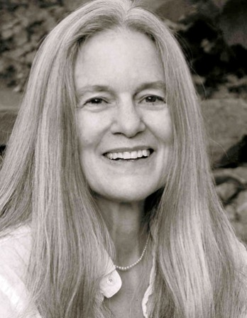 Black and white photograph of American poet Sharon Olds.