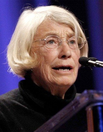 Photograph of American poet Mary Oliver.