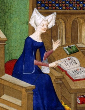 French poet and author Christine de Pisan.