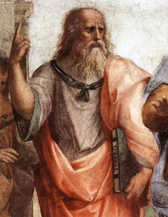 Depiction of Greek philosopher Plato.