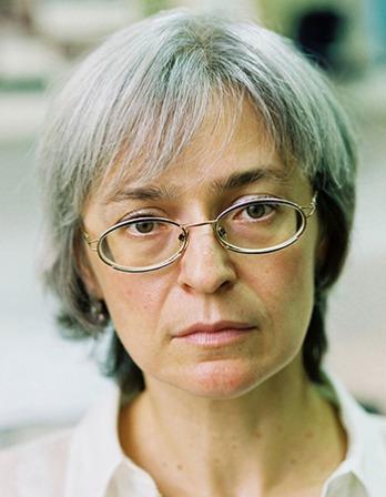Photograph of Russian journalist Anna Politkovskaya.