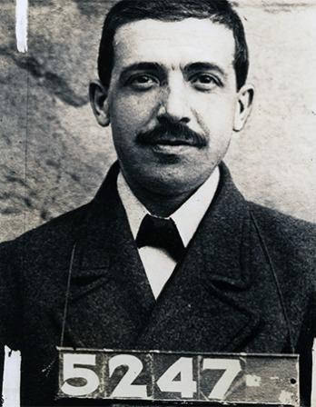 Italian businessman and con artist Charles Ponzi.