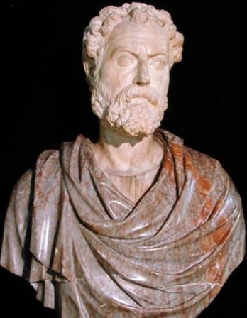 Sculpture bust of Roman teacher and writer Quintilian.