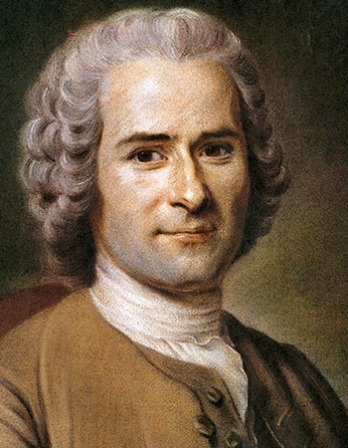 Portrait of Swiss-born philosopher, writer, and political theorist Jean-Jacques Rousseau.