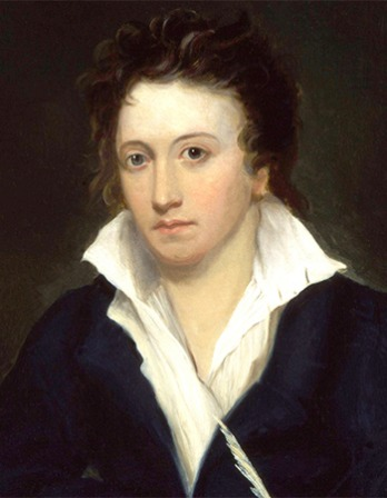 Portrait of English Romantic poet Percy Bysshe Shelley.
