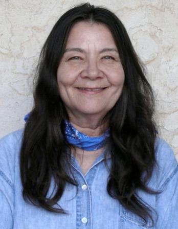Photograph of Native American poet and novelist Leslie Marmon Silko.