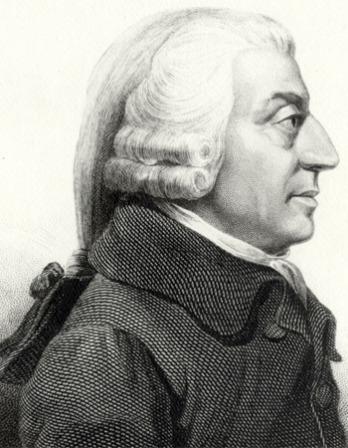 Engraving of Scottish economist Adam Smith.