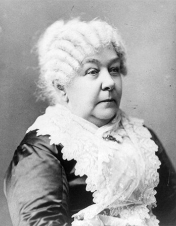 Photograph of American women's rights leader Elizabeth Cady Stanton.