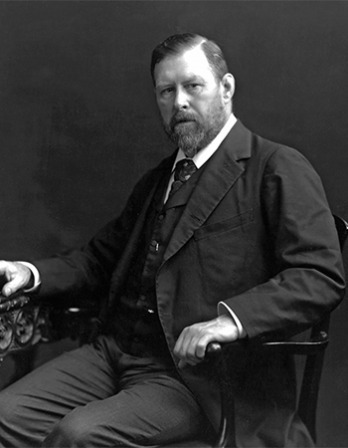 Irish writer Bram Stoker.