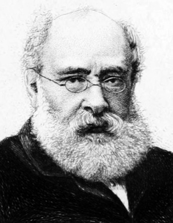 Black and white image of English novelist Anthony Trollope.