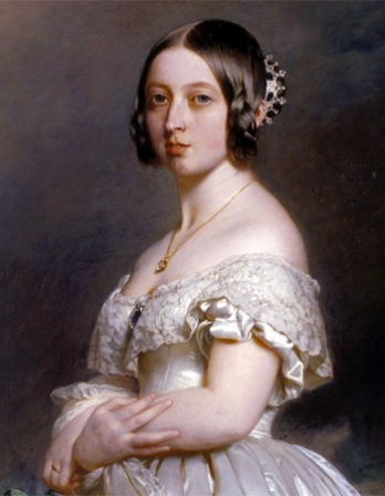 Painting of a young Queen Victoria