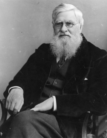 Photograph of British humanist, naturalist, and critic Alfred Russel Wallace.