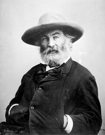 American poet, journalist, and essayist Walt Whitman.
