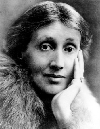 Black and white photograph of English writer Virginia Woolf.
