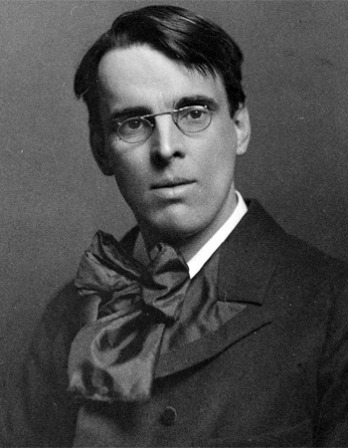 Black and white photograph of Irish poet and writer W. B. Yeats.