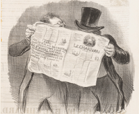 Advice to Subscribers, by Honoré Daumier, 1840. The Metropolitan Museum of Art.